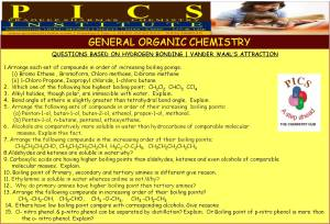CBSE - Organic Chemistry - Questions based upon bonding
